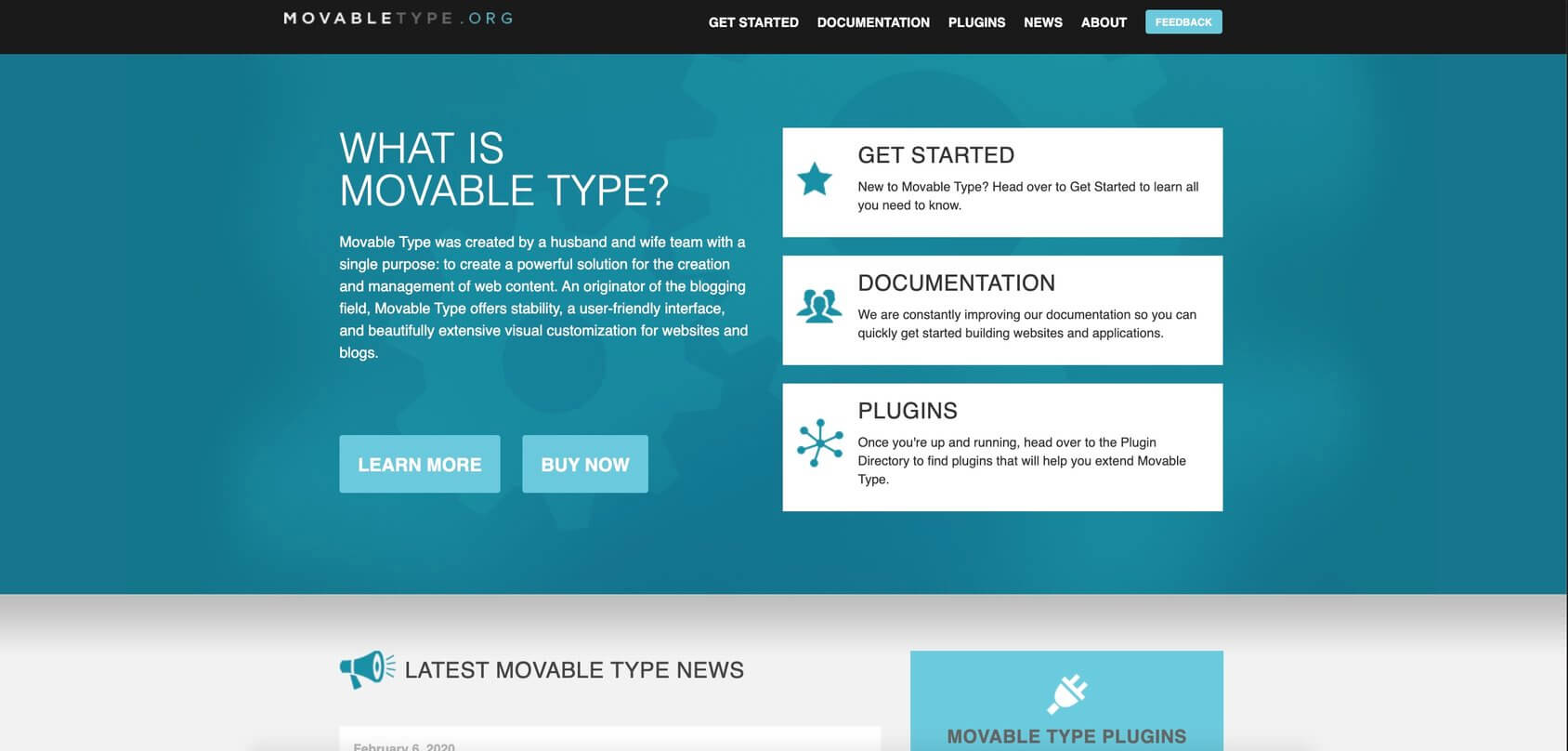MovableType homepage