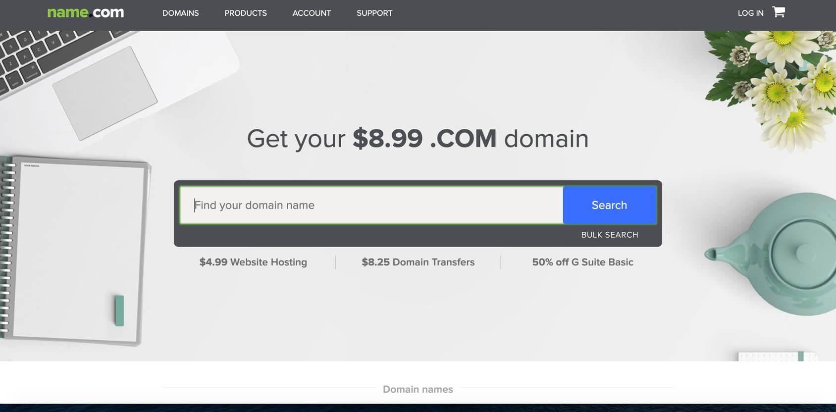 Name.com homepage