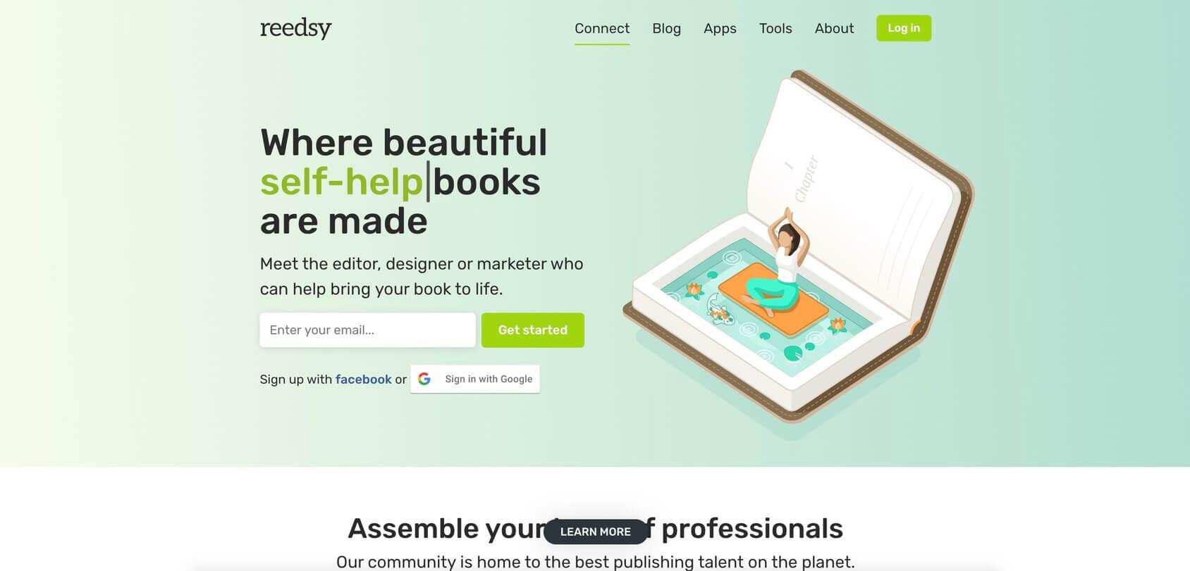 Reedsy homepage