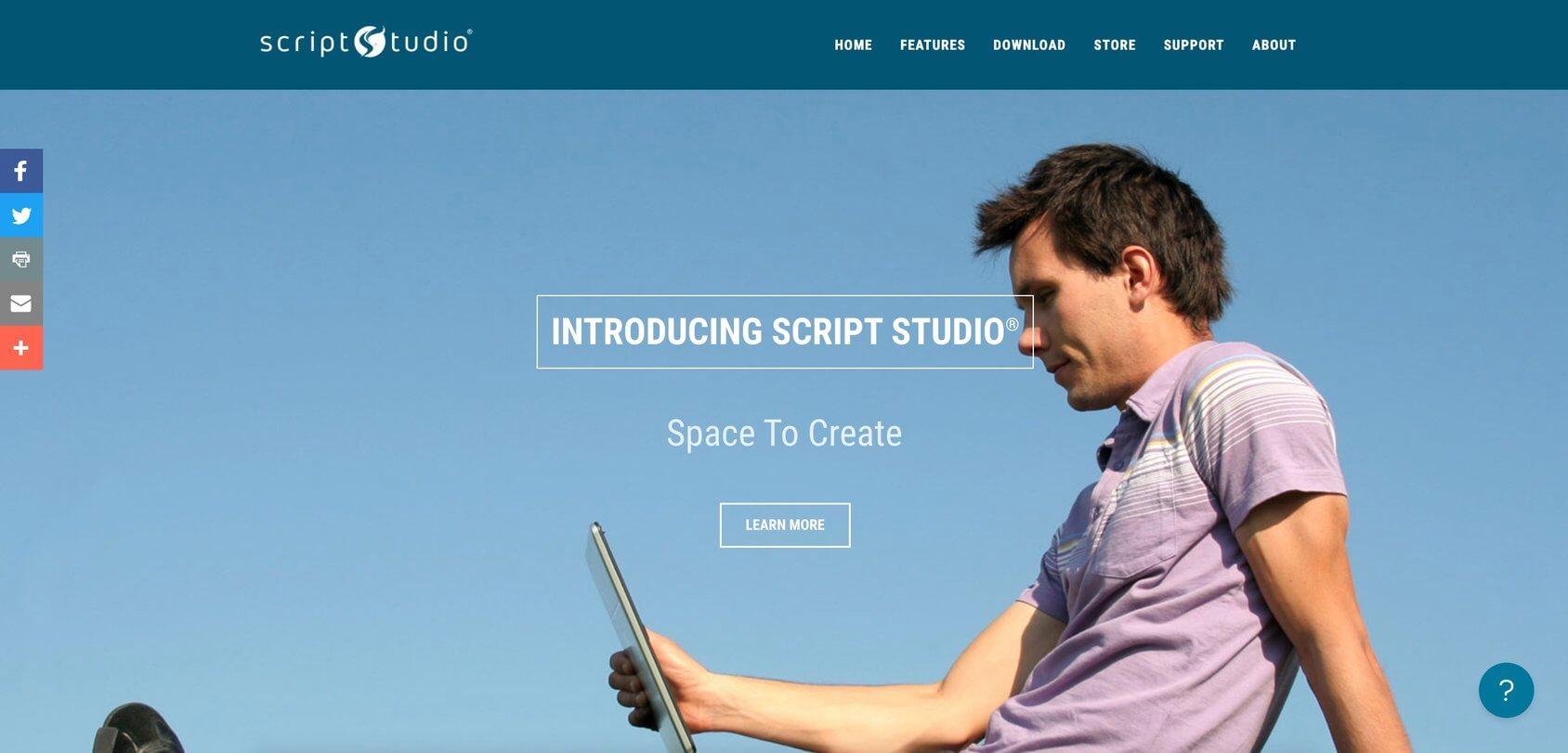 Script Studio homepage