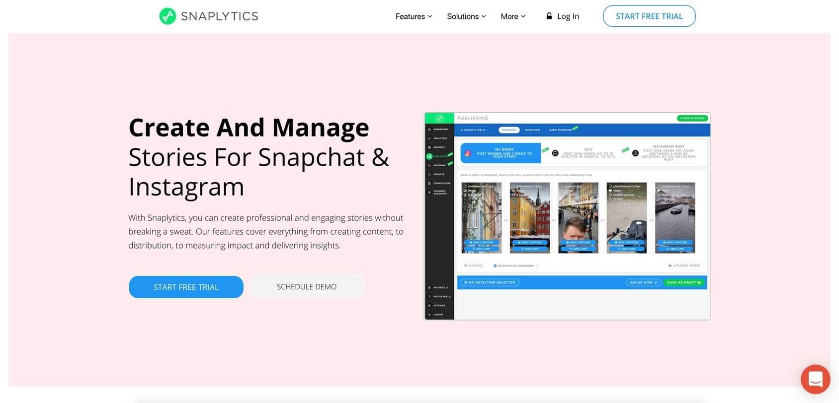 Snaplytics homepage