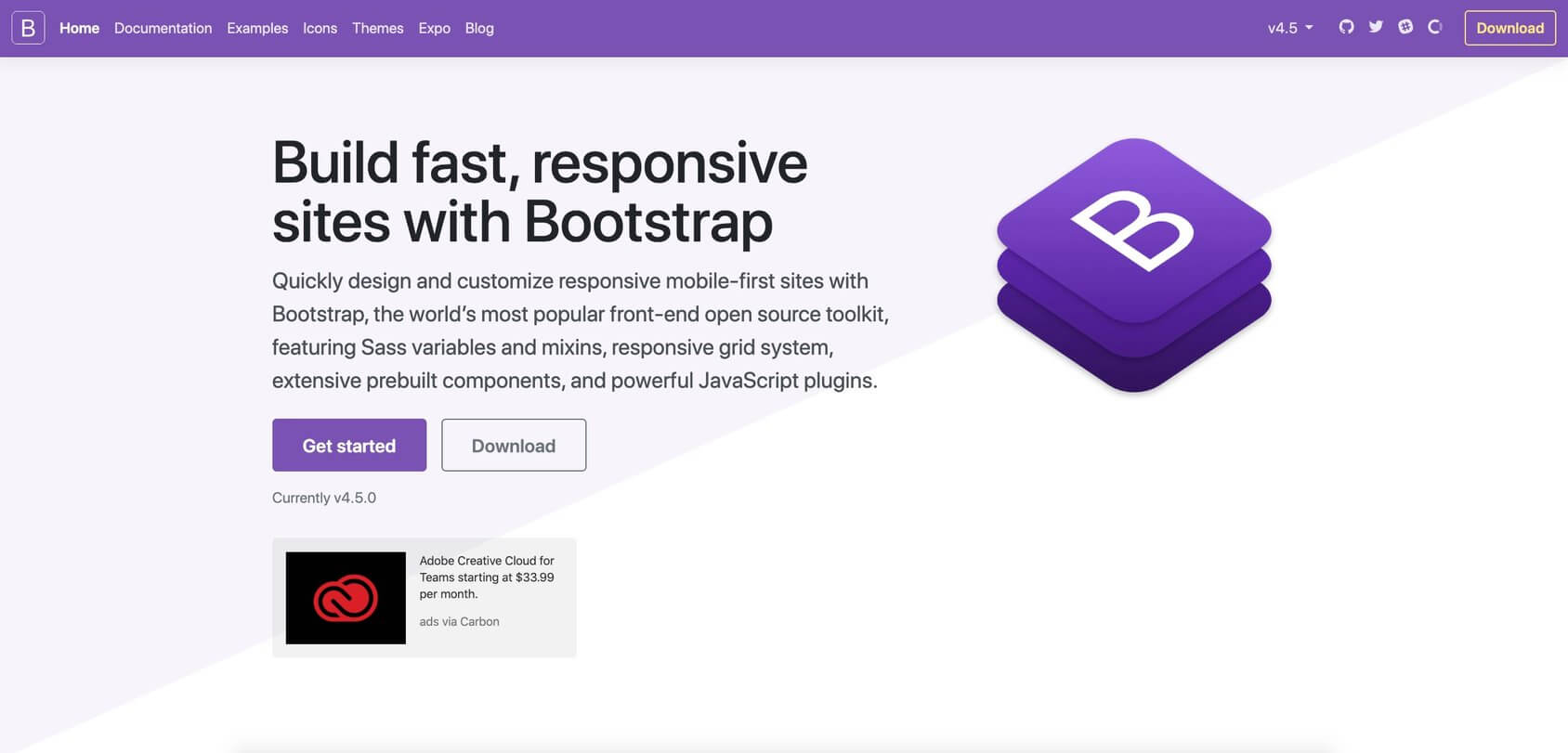 Bootstrap homepage