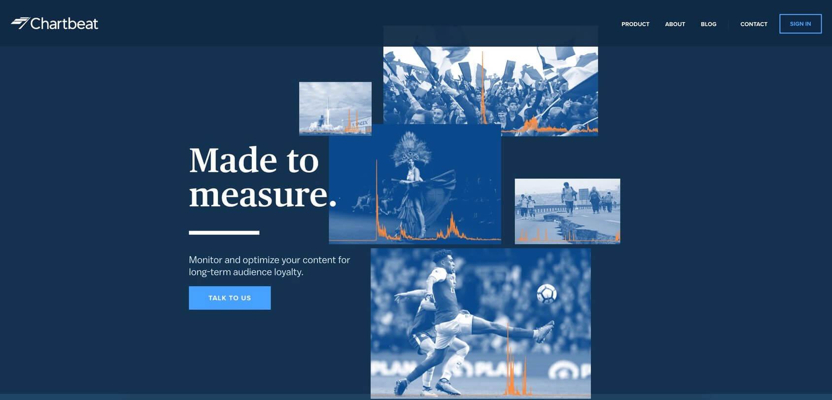 Chartbeat homepage