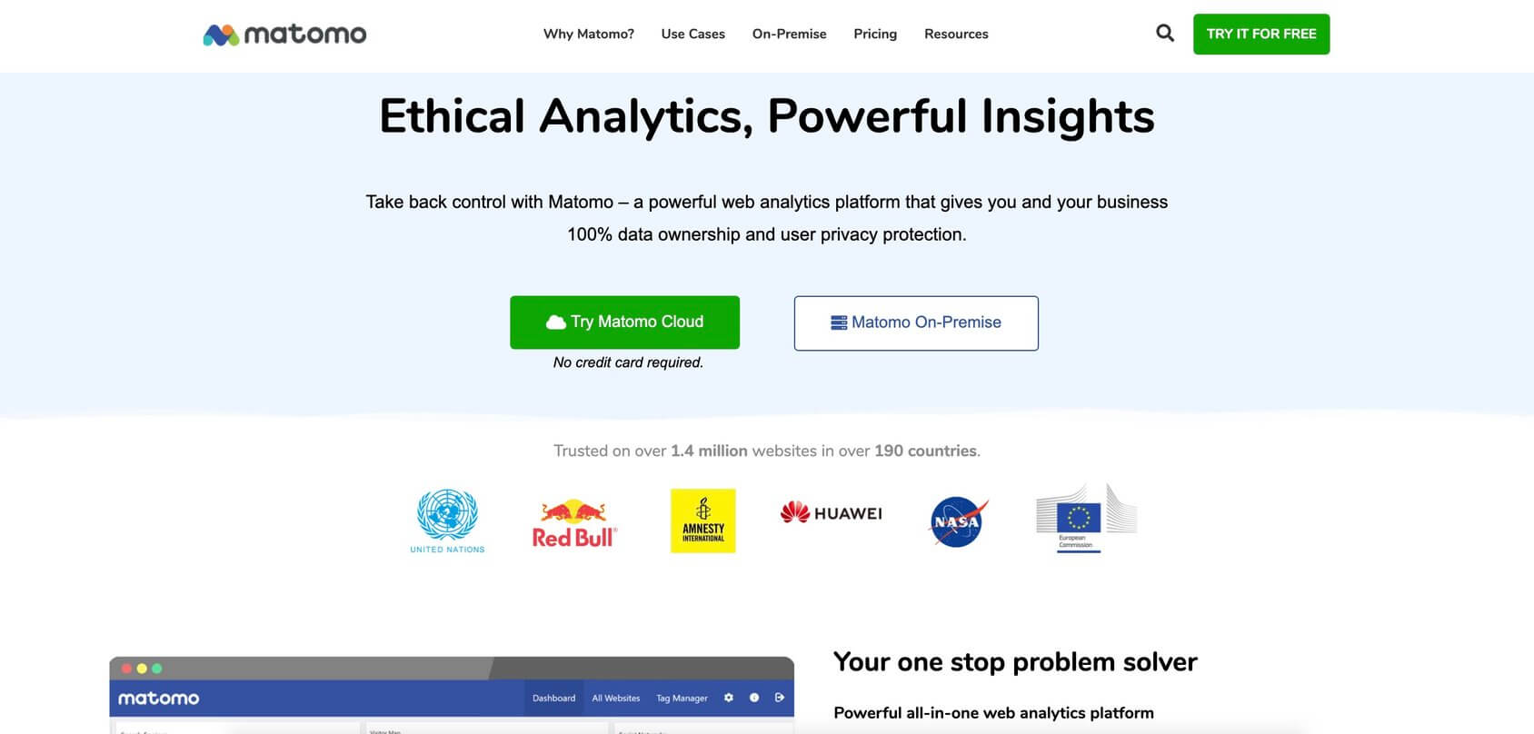 Matomo homepage