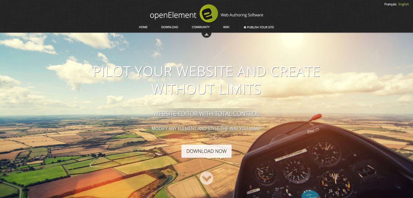 openElement homepage