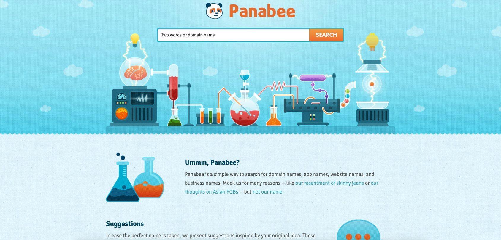 Panabee homepage