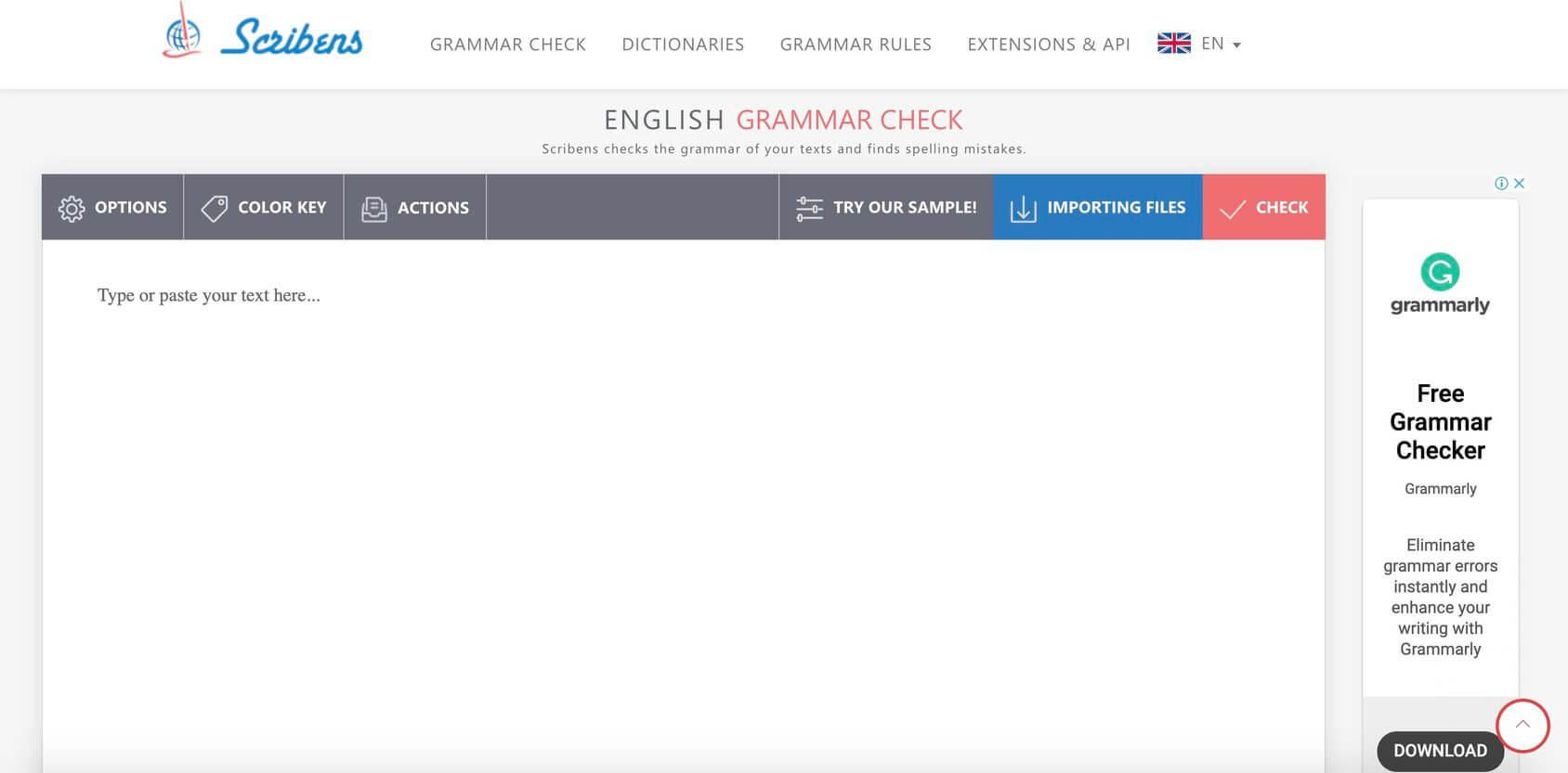 Scribens homepage