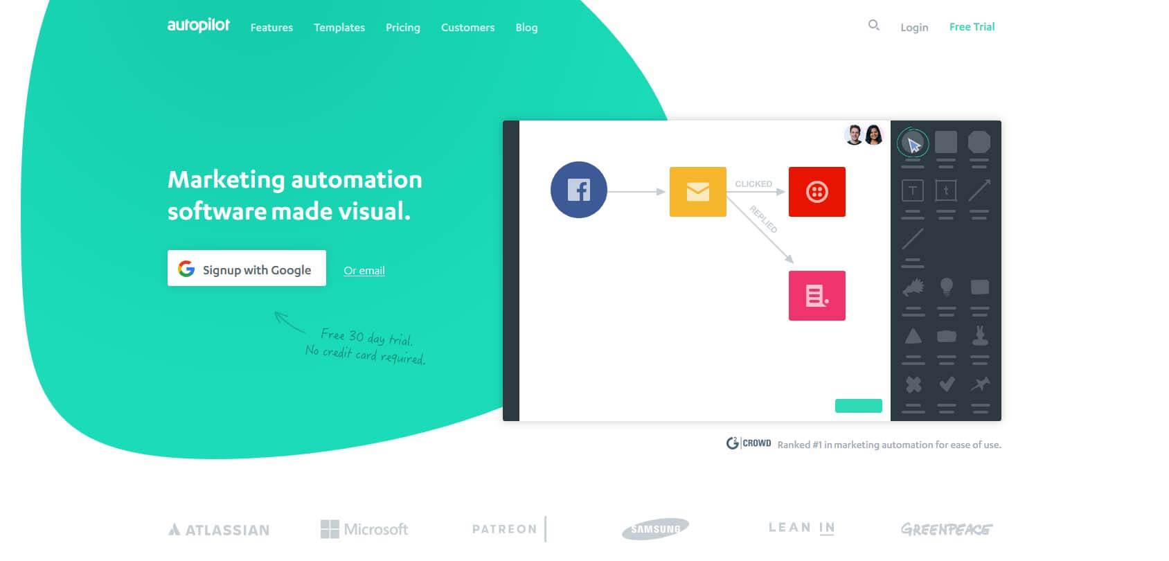 Autopilot homepage