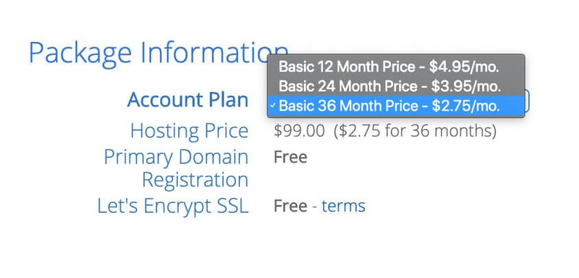 bluehost hosting plans