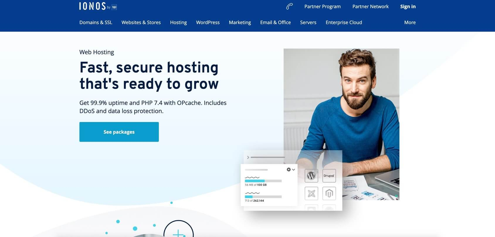 IONOS home page