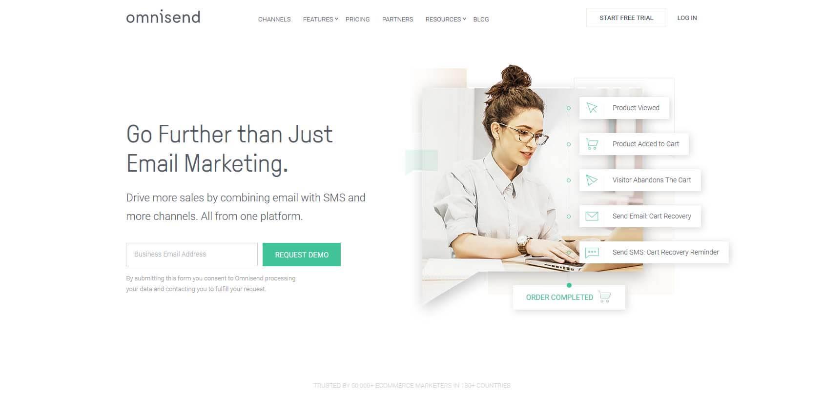 Omnisend homepage