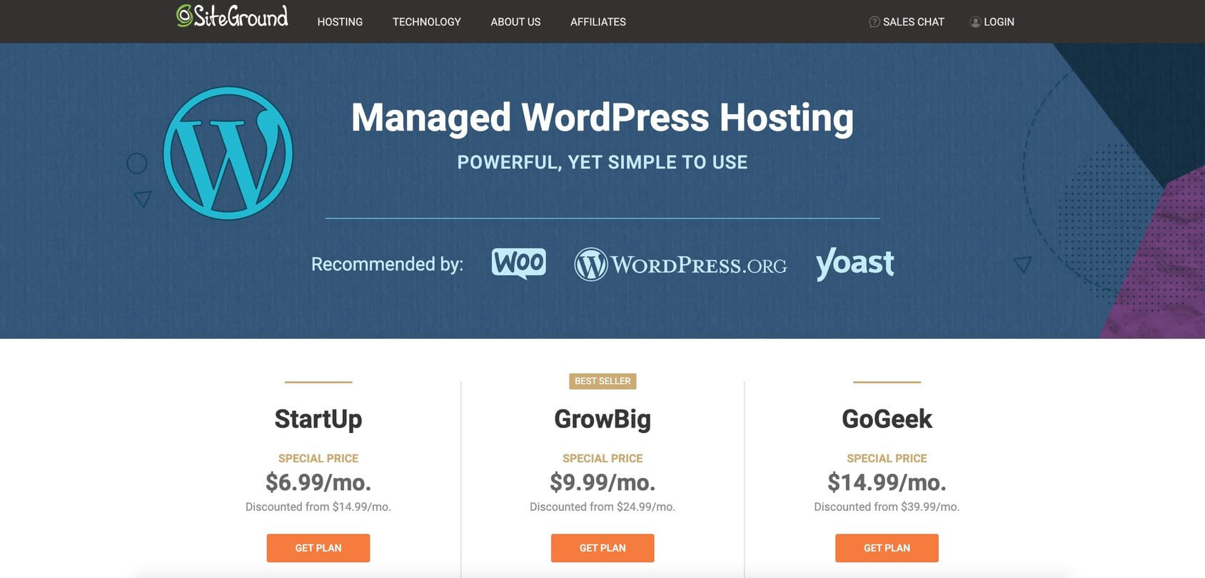 Siteground Managed WordPress