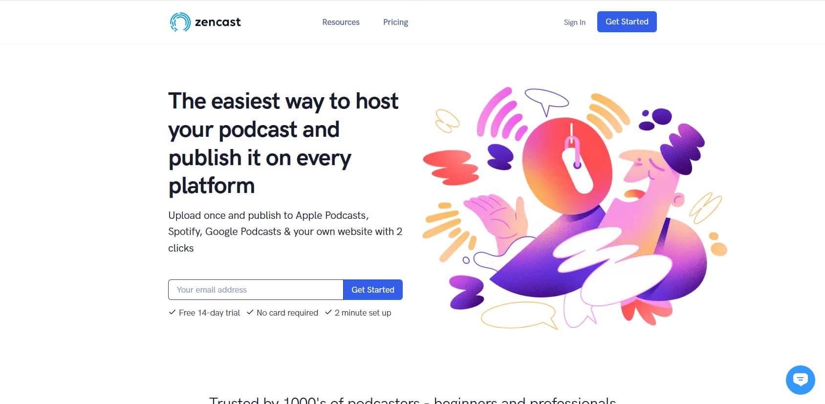 ZenCast homepage