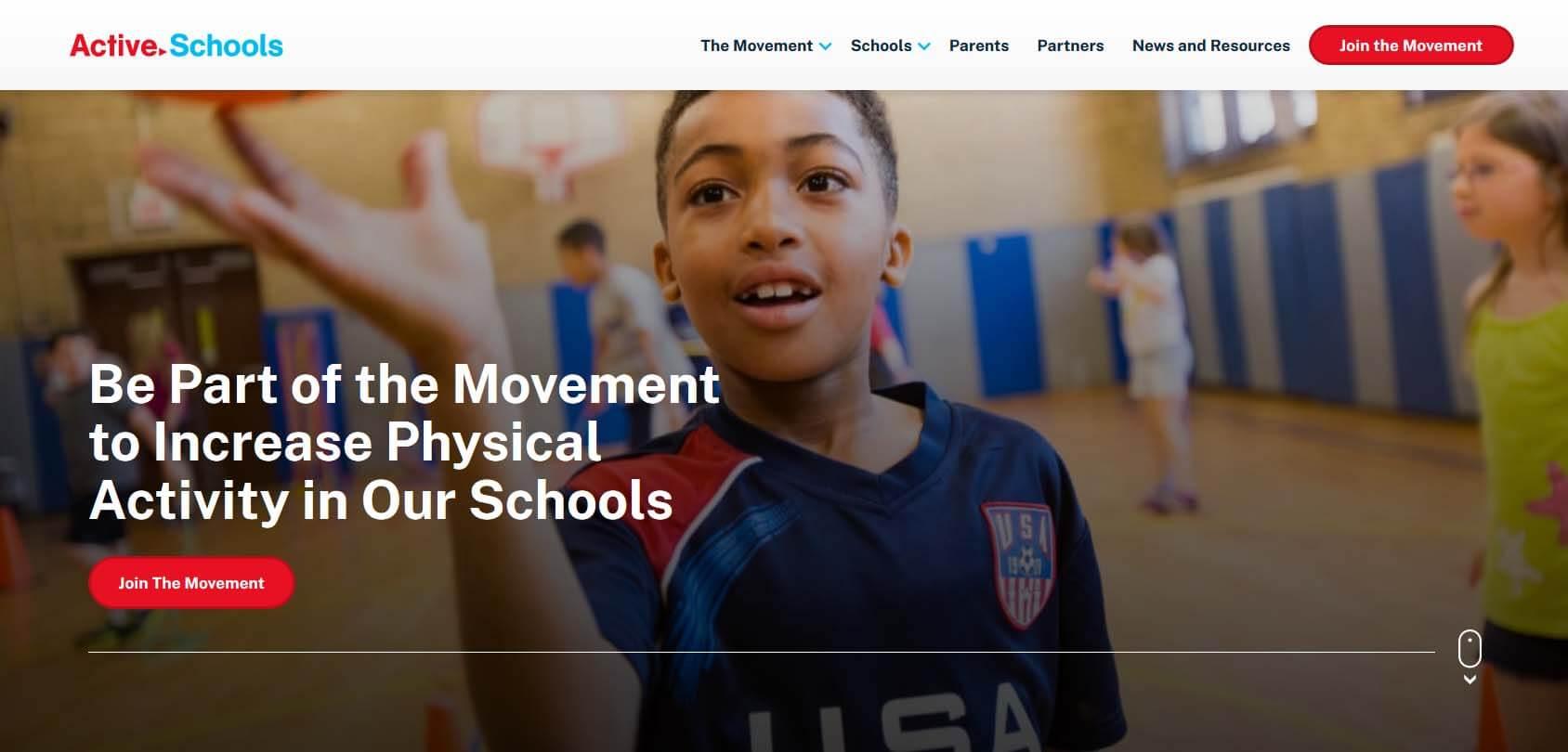 Active Schools Homepage