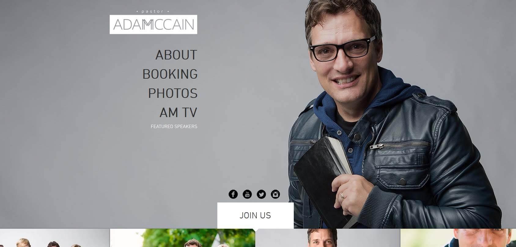 Adam McCain Homepage