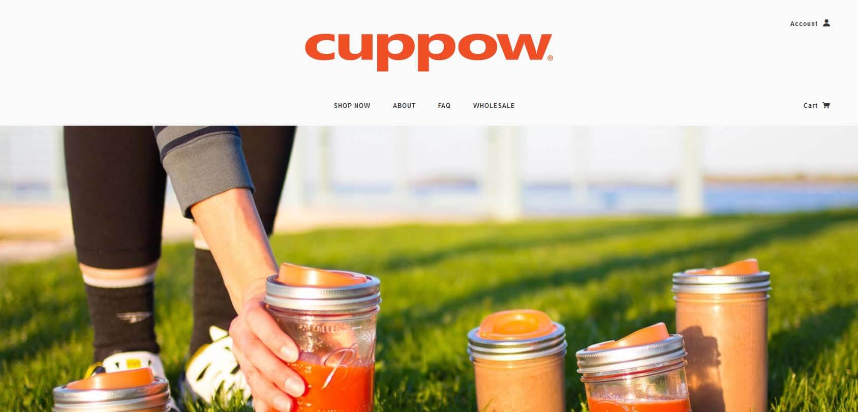 Cuppow homepage