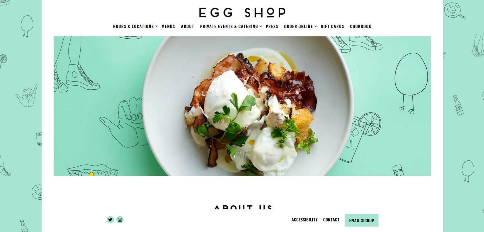 Egg Shop Homepage