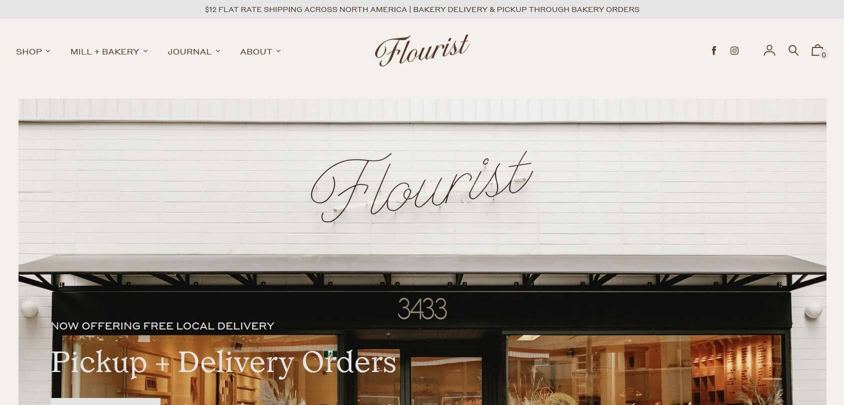 Flourist homepage