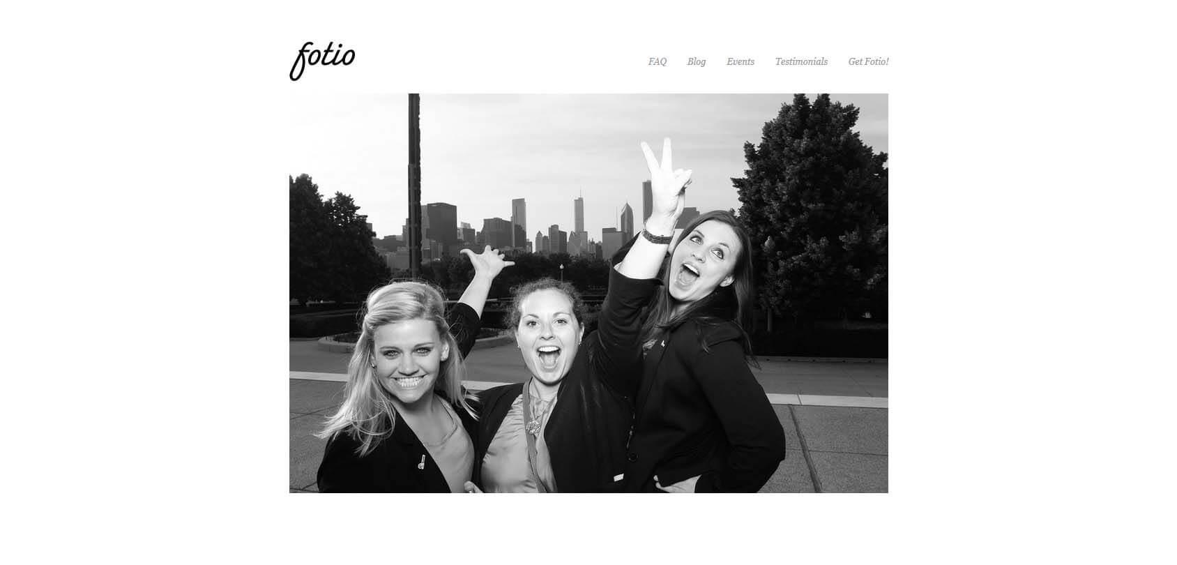 Fotio Homepage