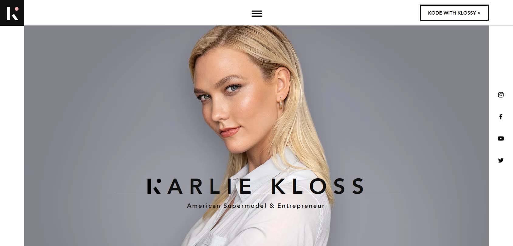 Karlie Kloss Homepage
