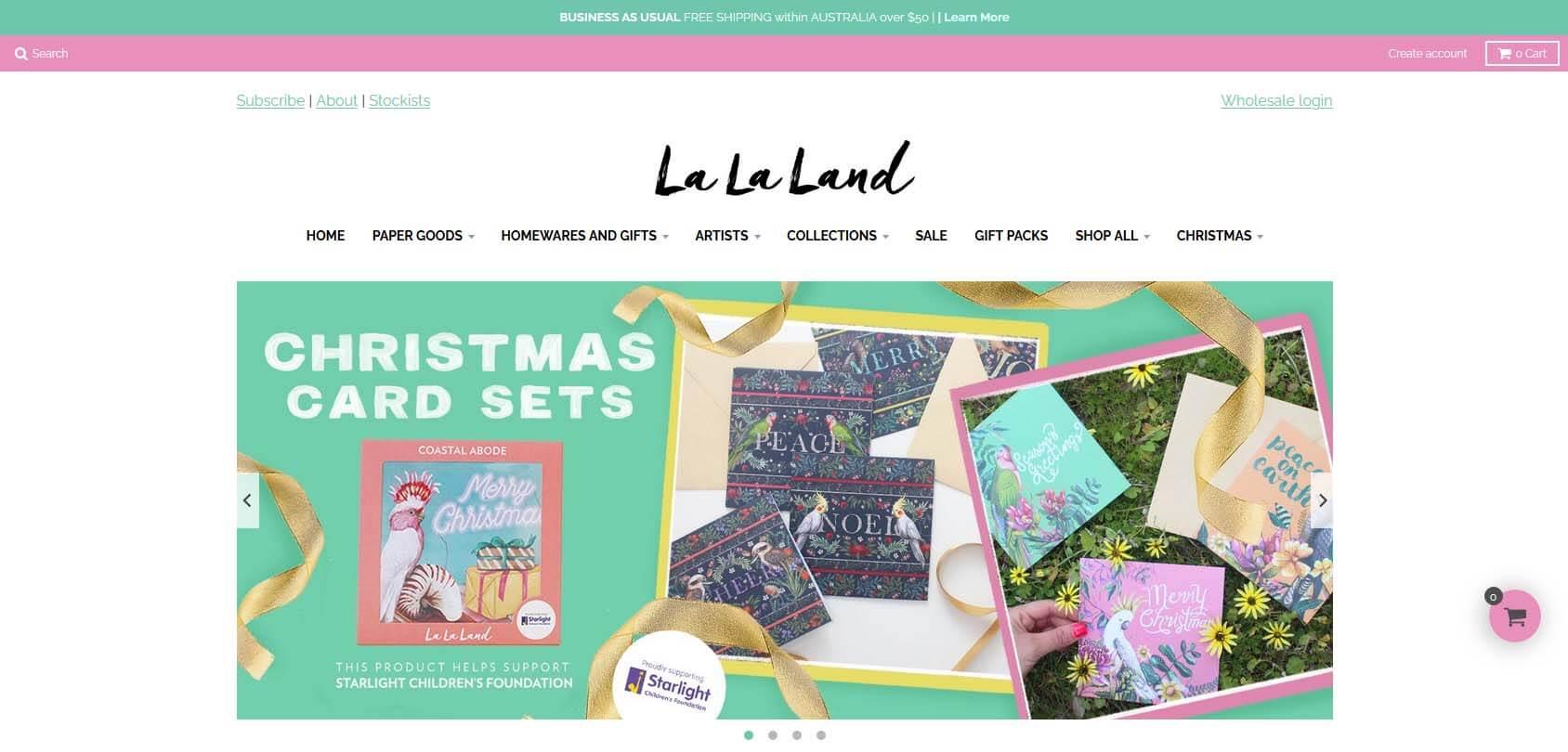 La La Land homepage