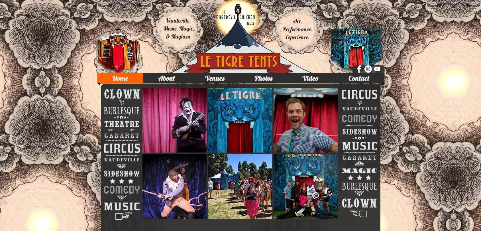 Le Tigre Tent Homepage