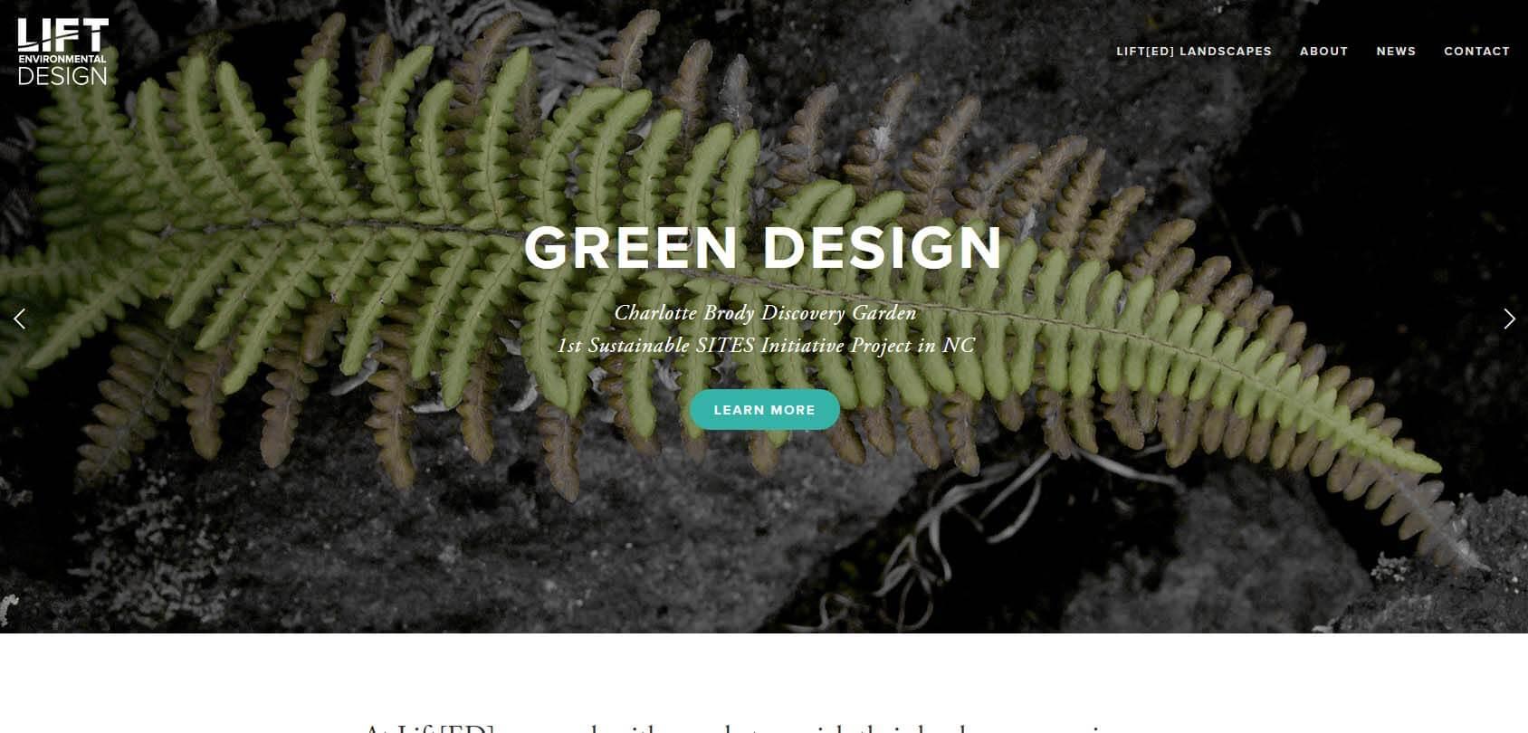 Lift Environmental Design Homepage