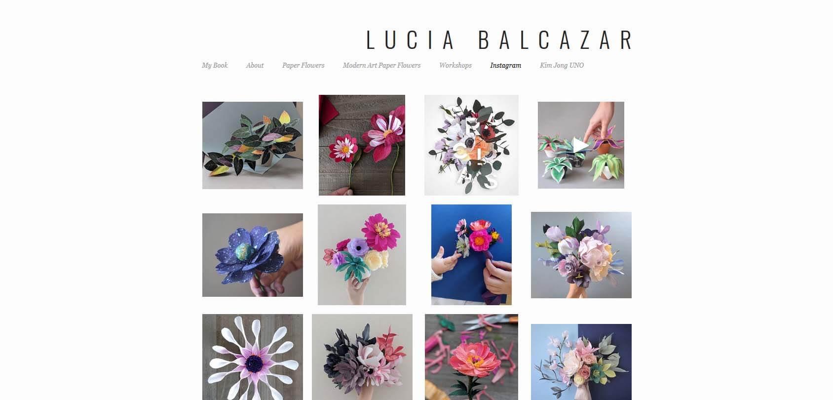 Lucia Balcazaar Homepage