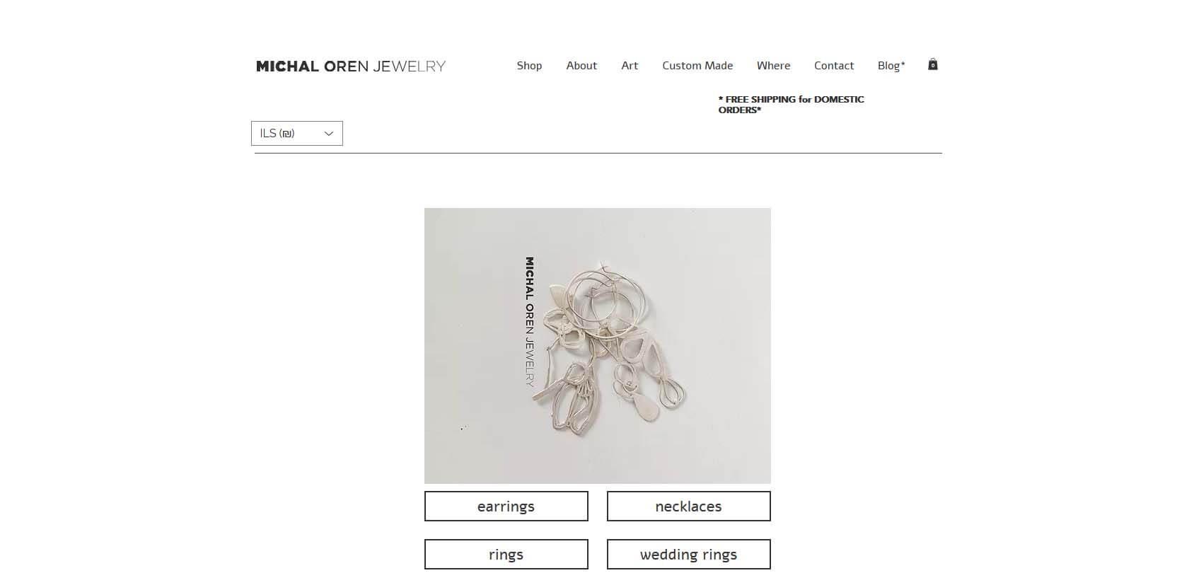 Michal Oren Jewelry Homepage