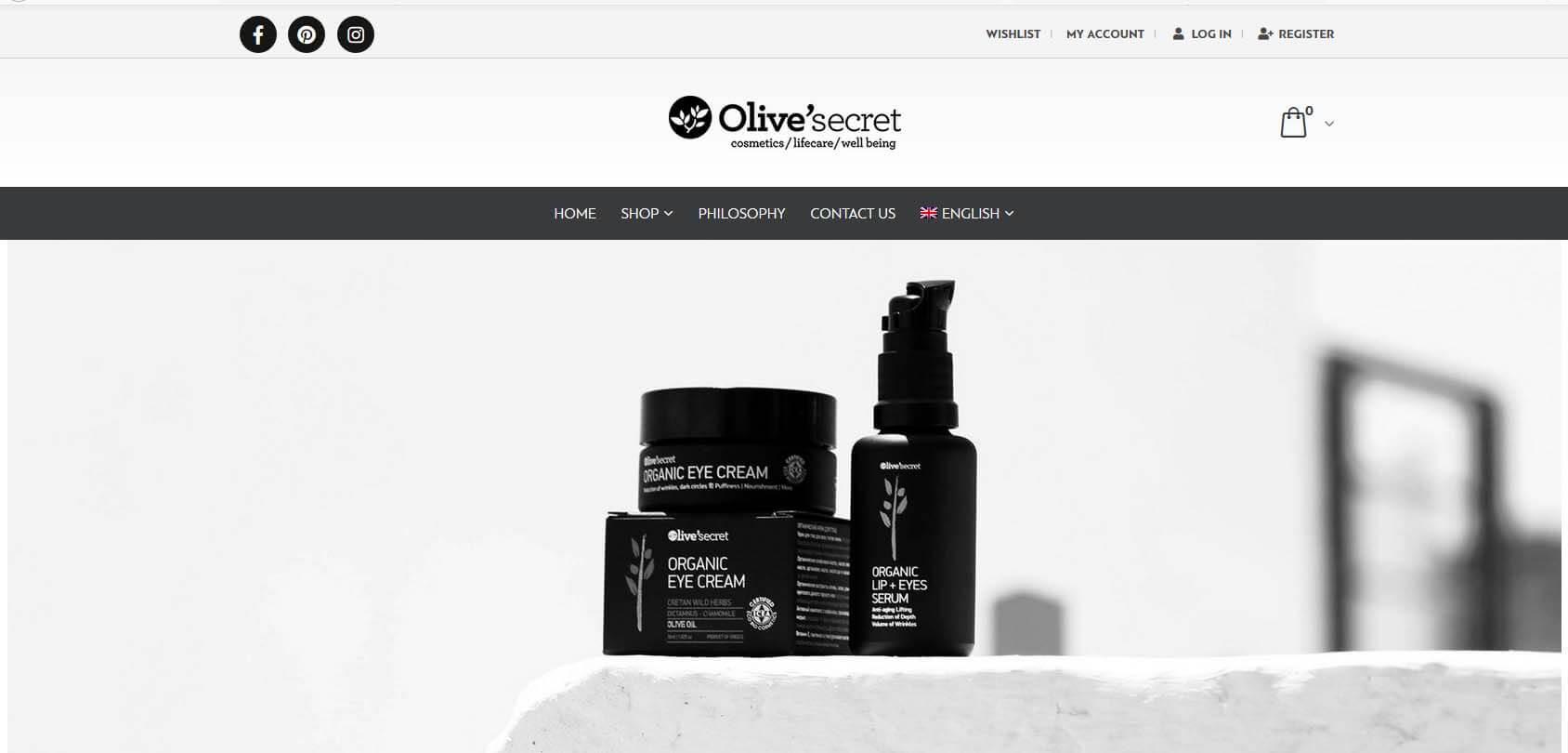 Olive Secret Homepage