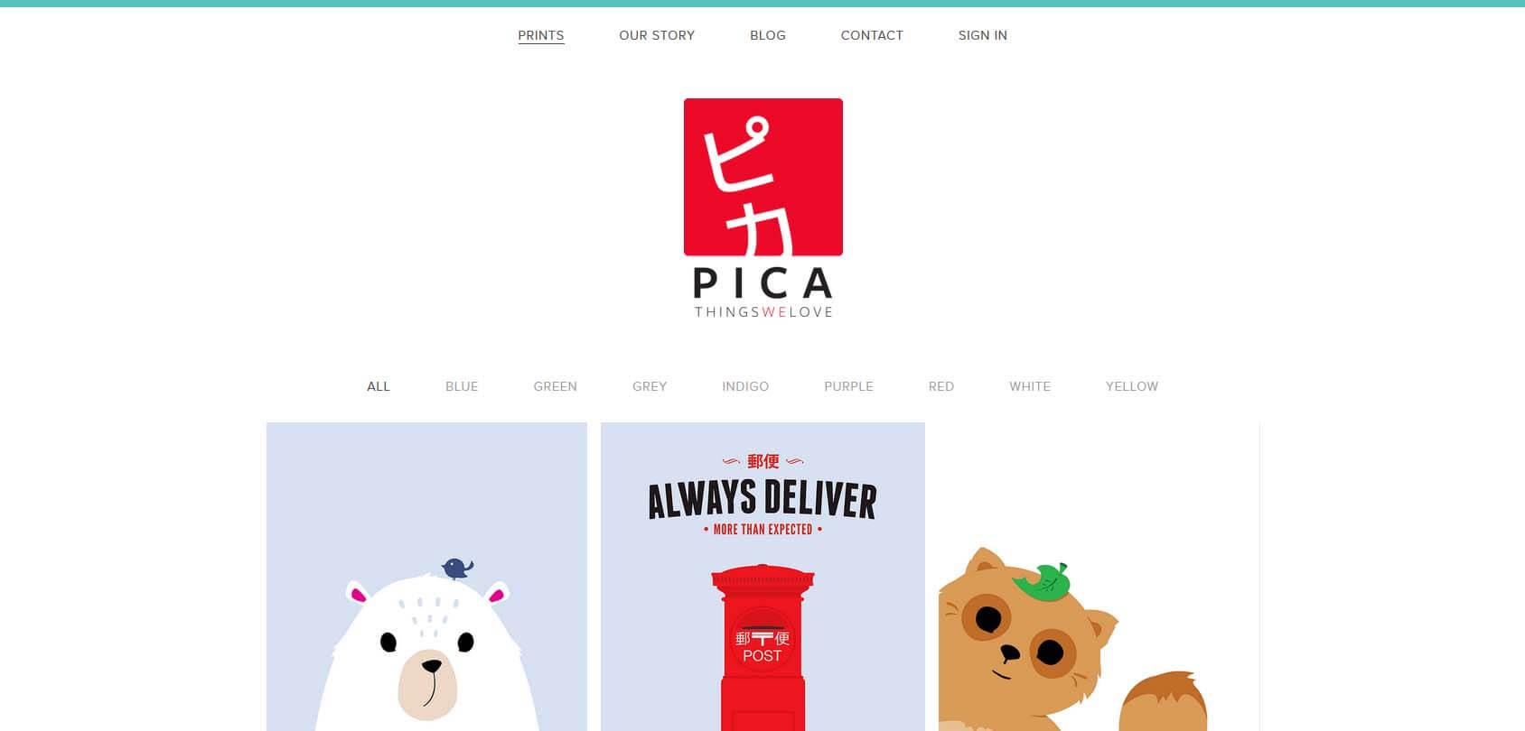 Pica Things We Love Homepage