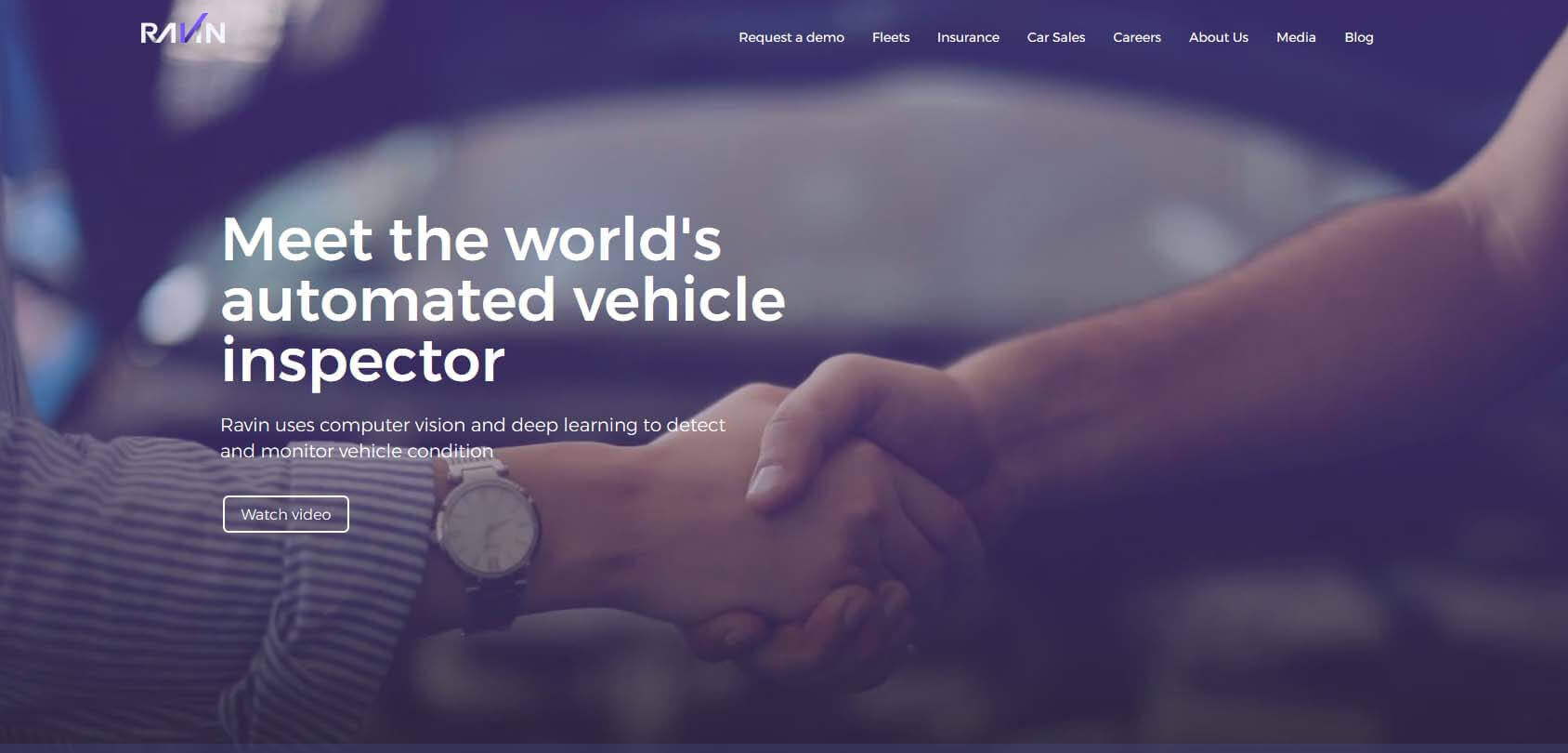 Ravin AI Homepage