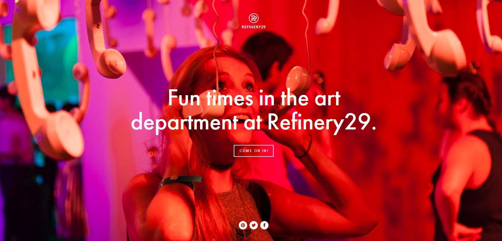 Refinery 29 Homepage