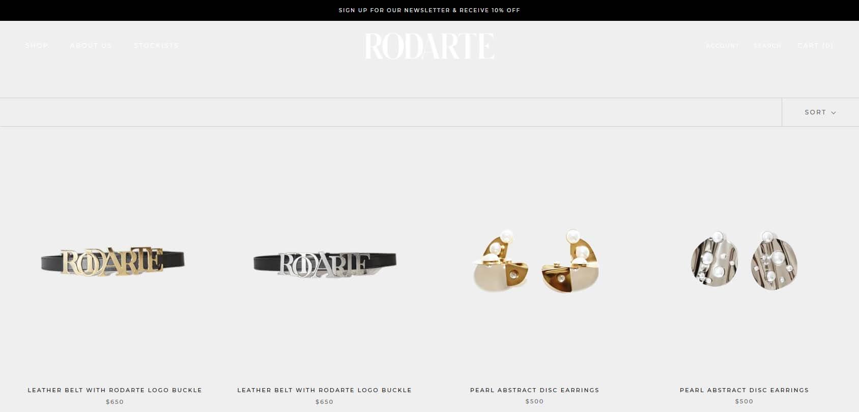 Rodarte Homepage