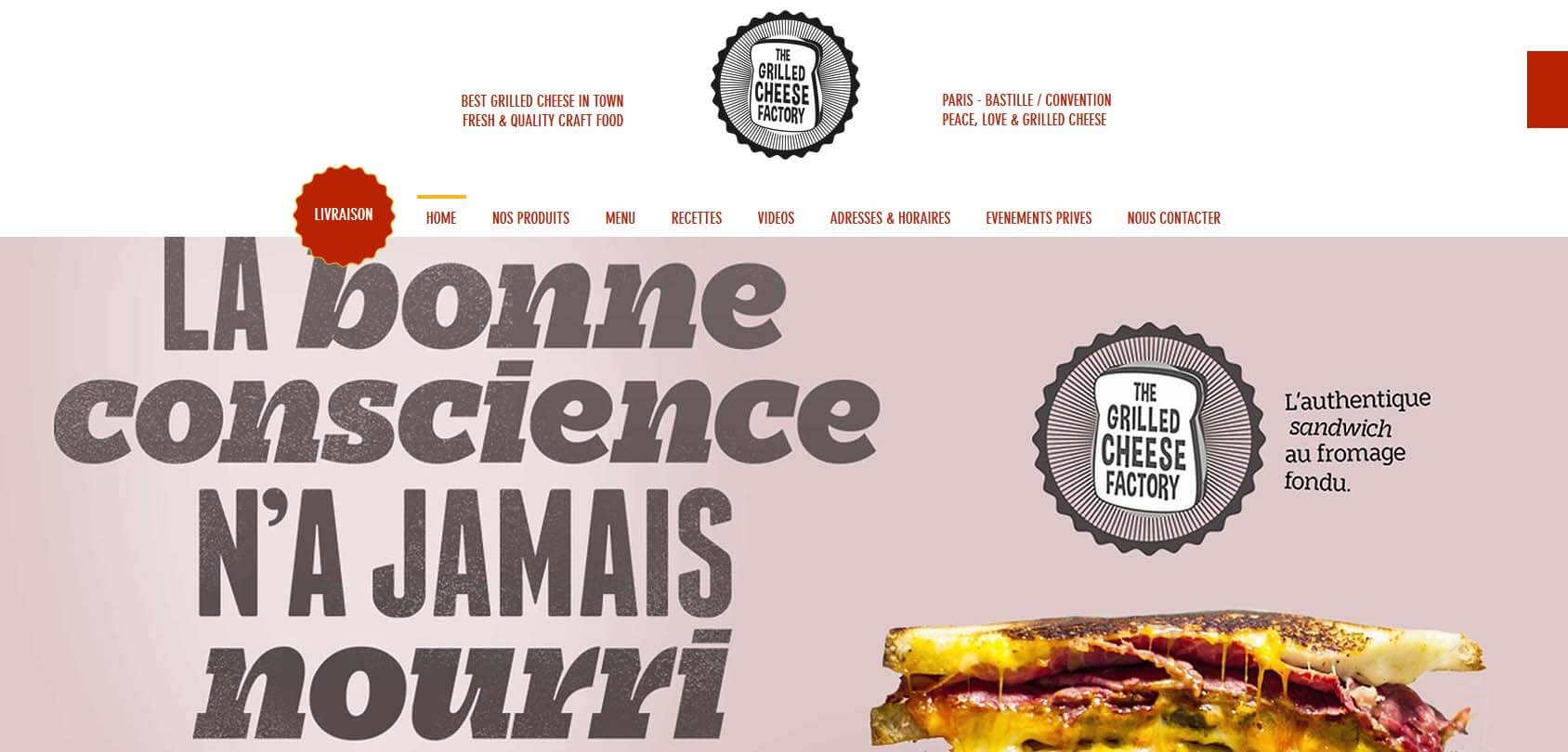 The Grilled Cheese Factory Homepage