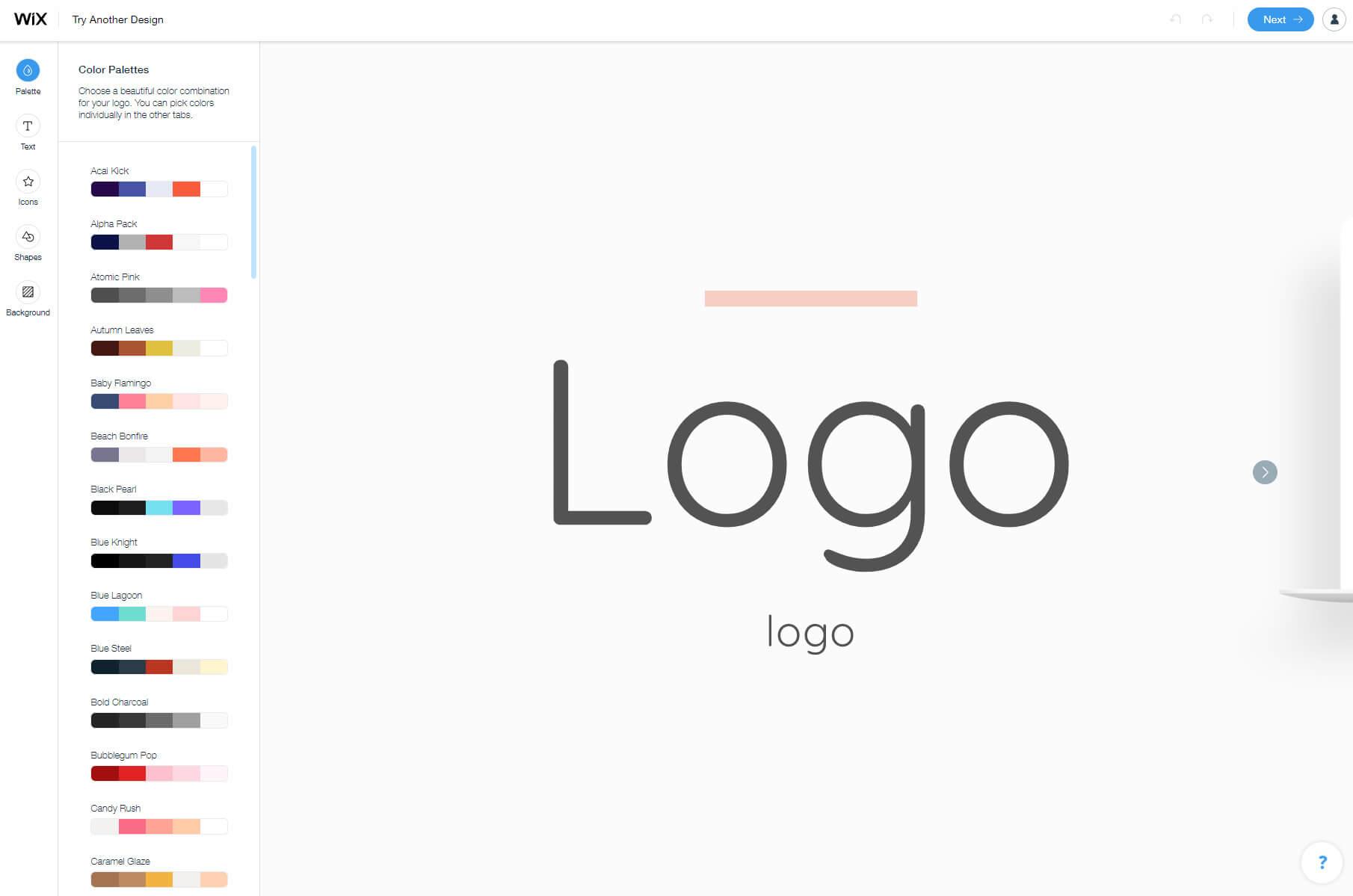 Customizing logo
