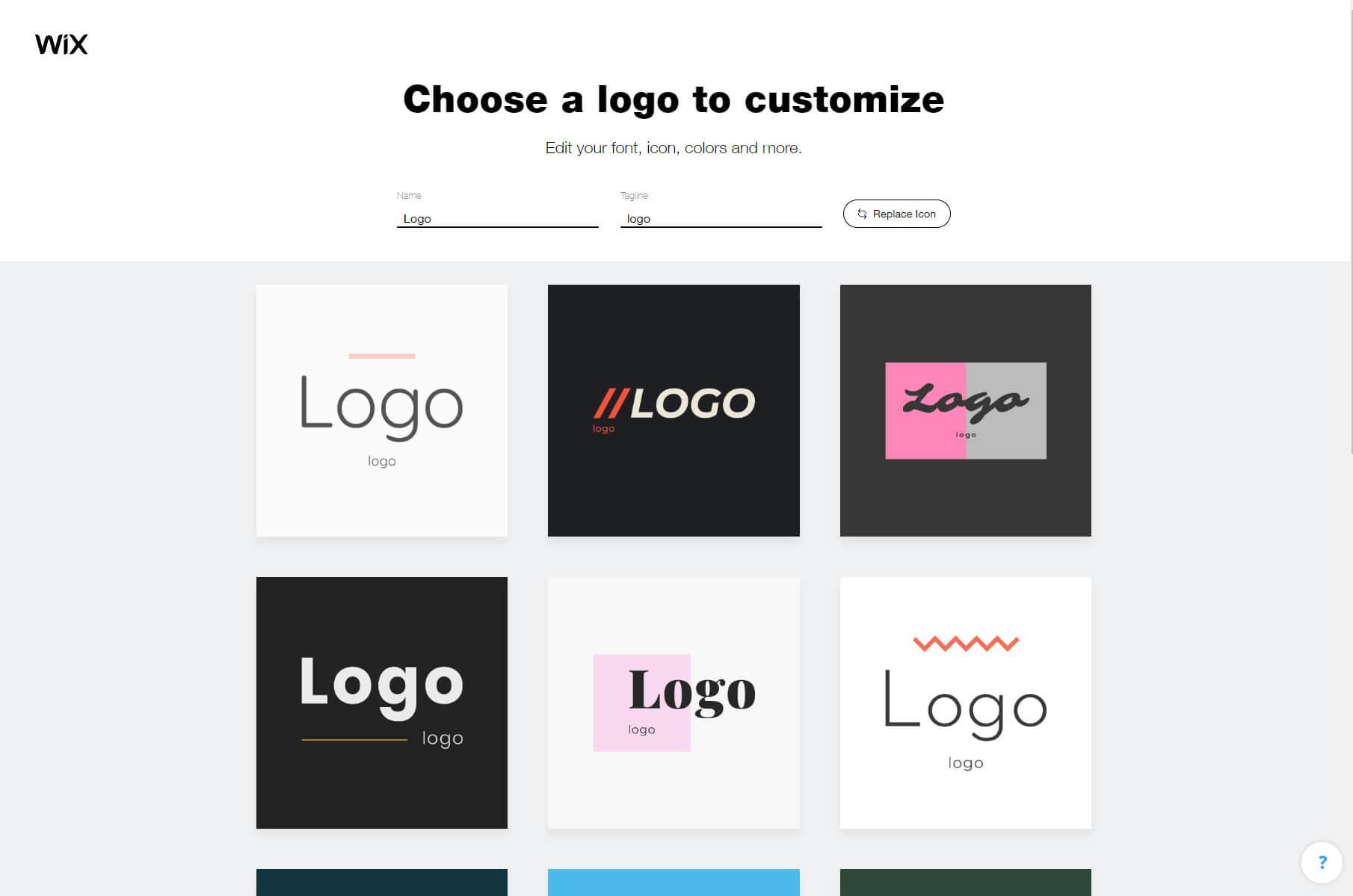 Choose a logo to customize