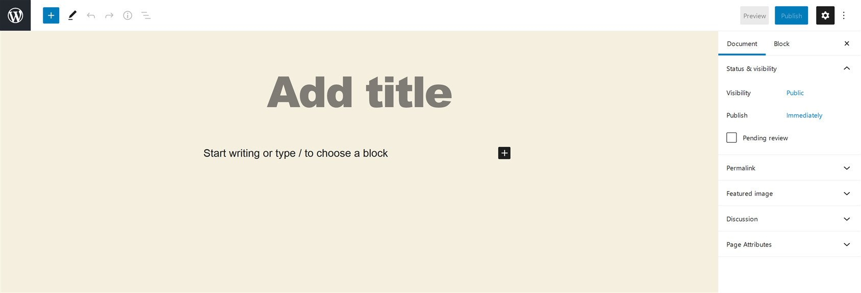WordPress Block or Gutenberg editor