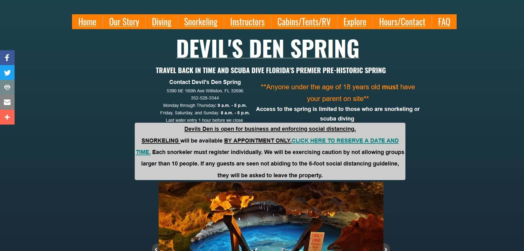 Devil's Den Spring Homepage