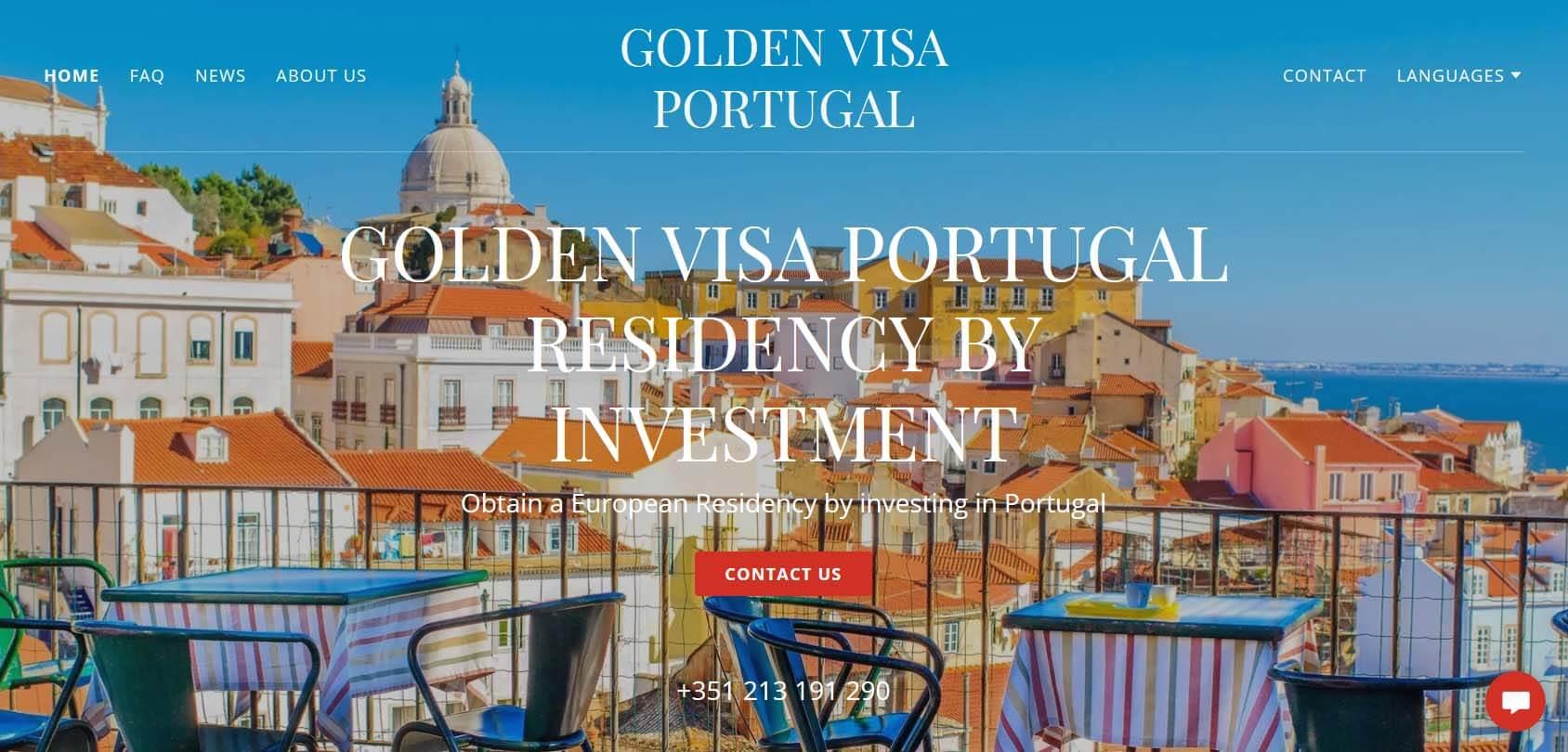 Golden Visa Portugal Homepage