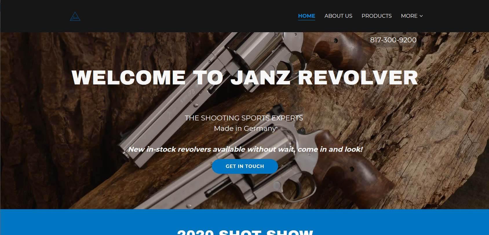 Janz Revolver Homepage