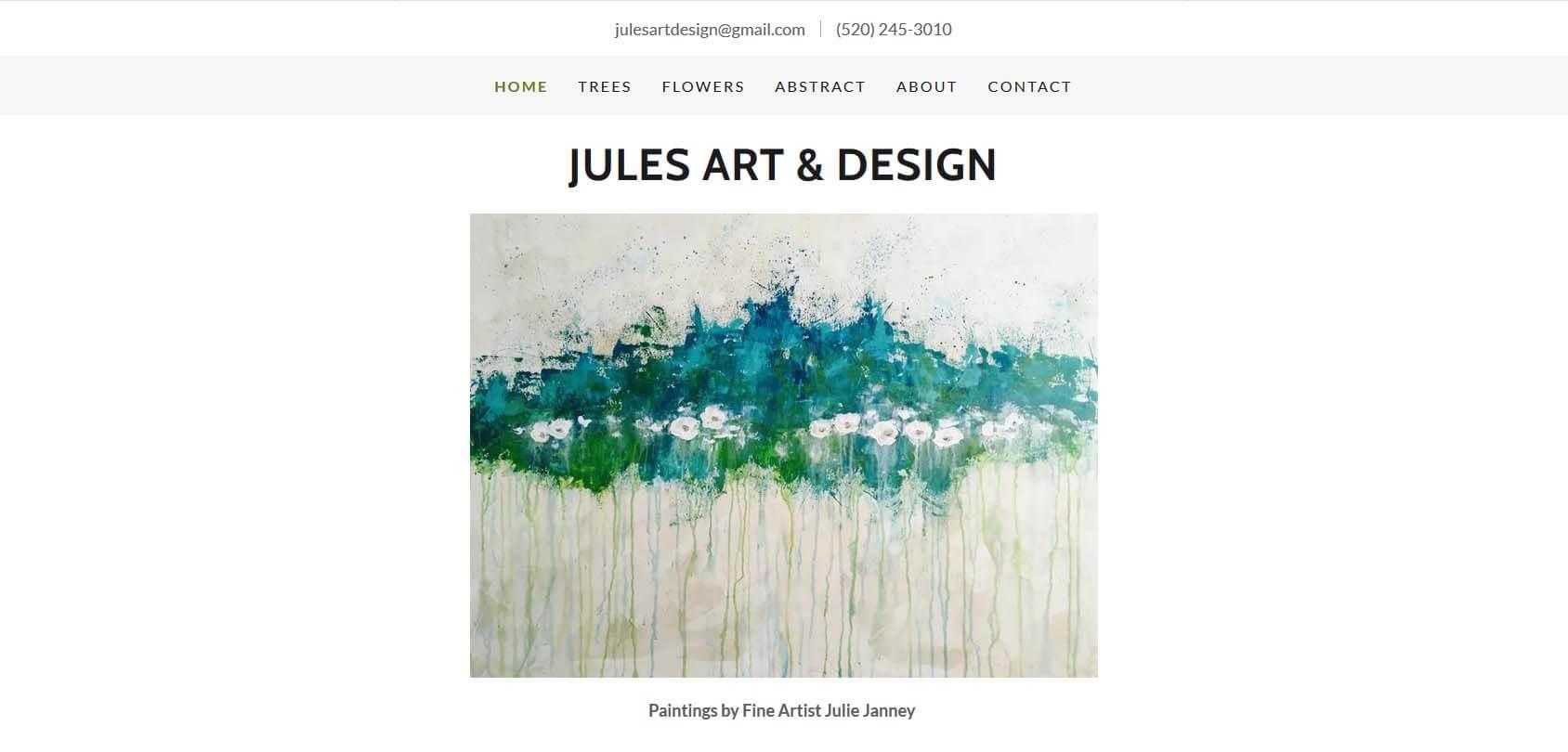 Jules Art & Design Homepage