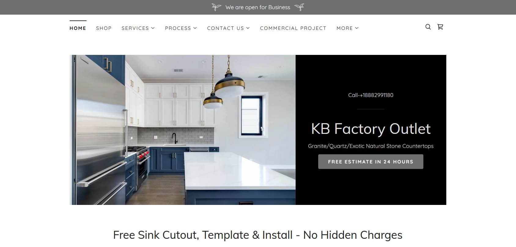 KB Factory Outlet Homepage