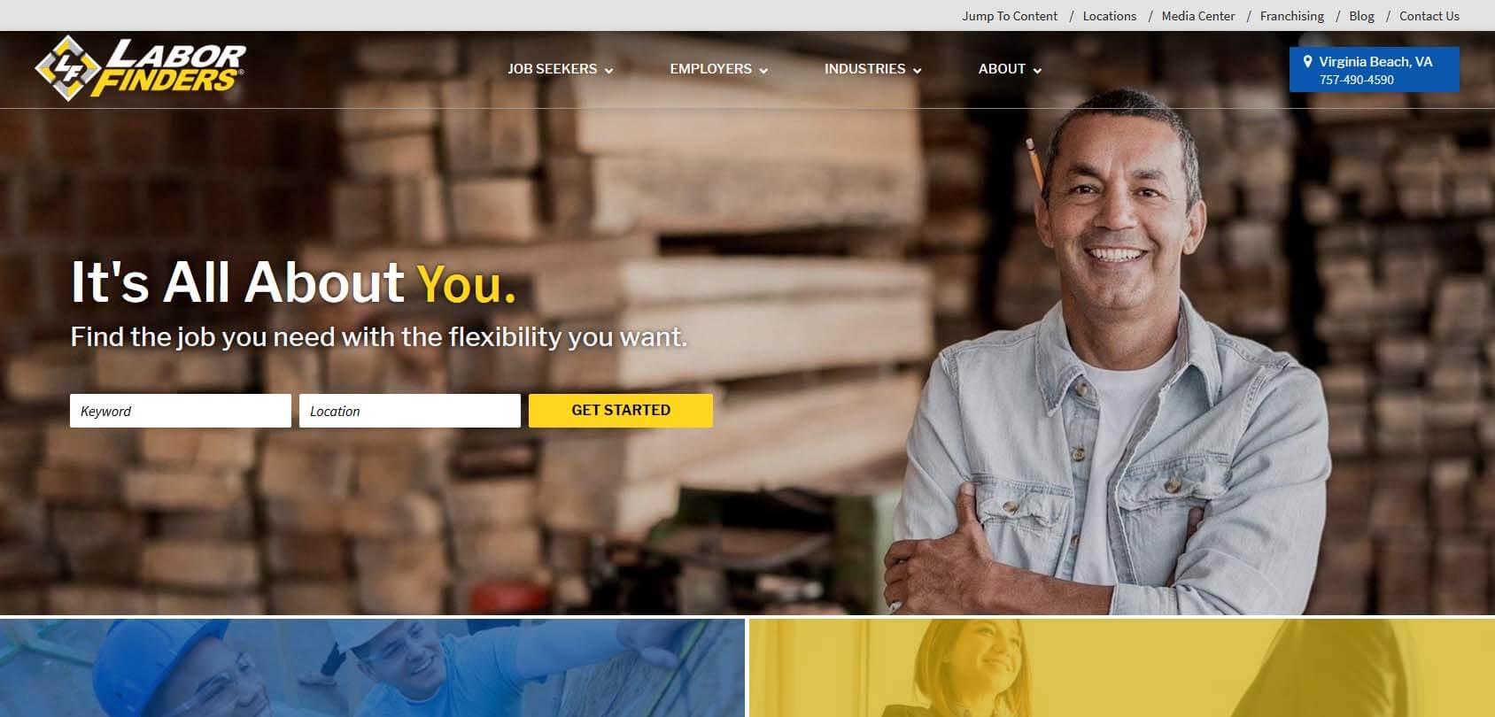 Labor Finders Homepage