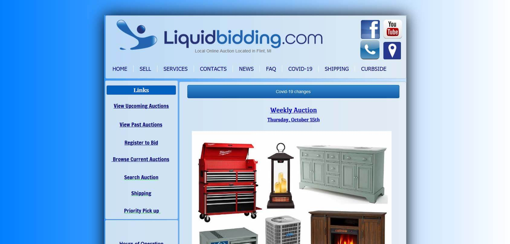 Liquid Bidding Homepage