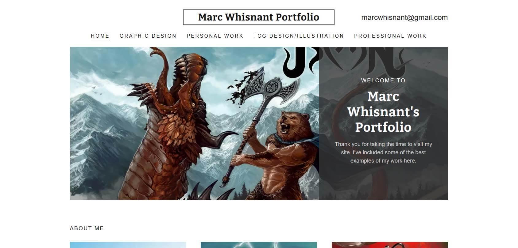 Marc Whisnant Portfolio Homepage