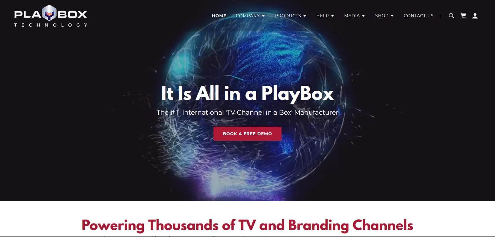 Playbox Technology Homepage