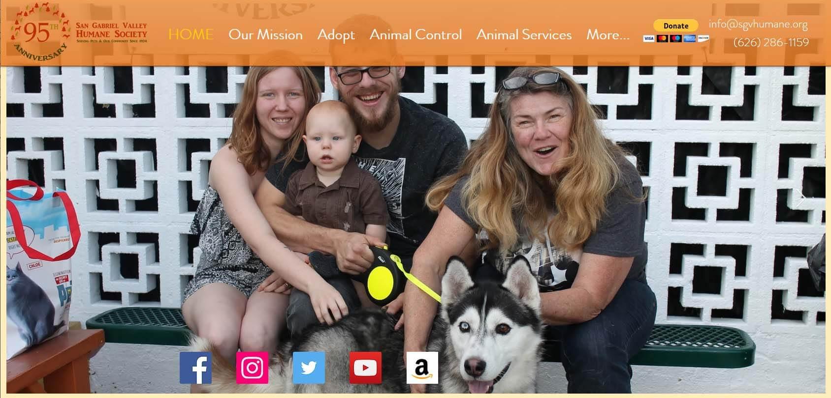 San Gabriel Valley Humane Society Homepage