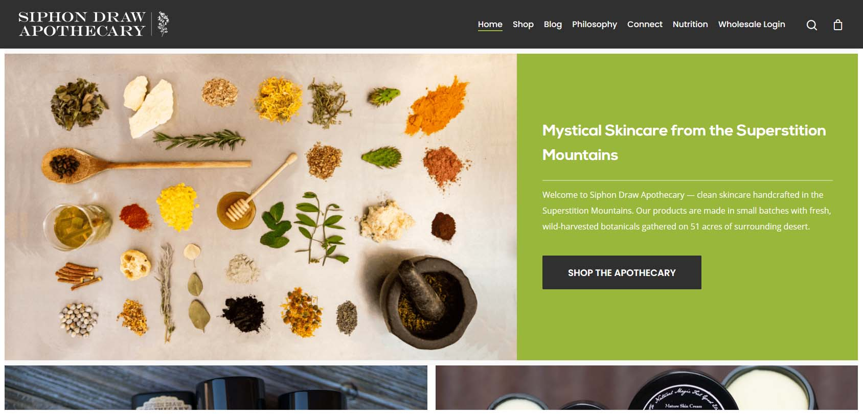 Siphon Draw Apothecary Homepage