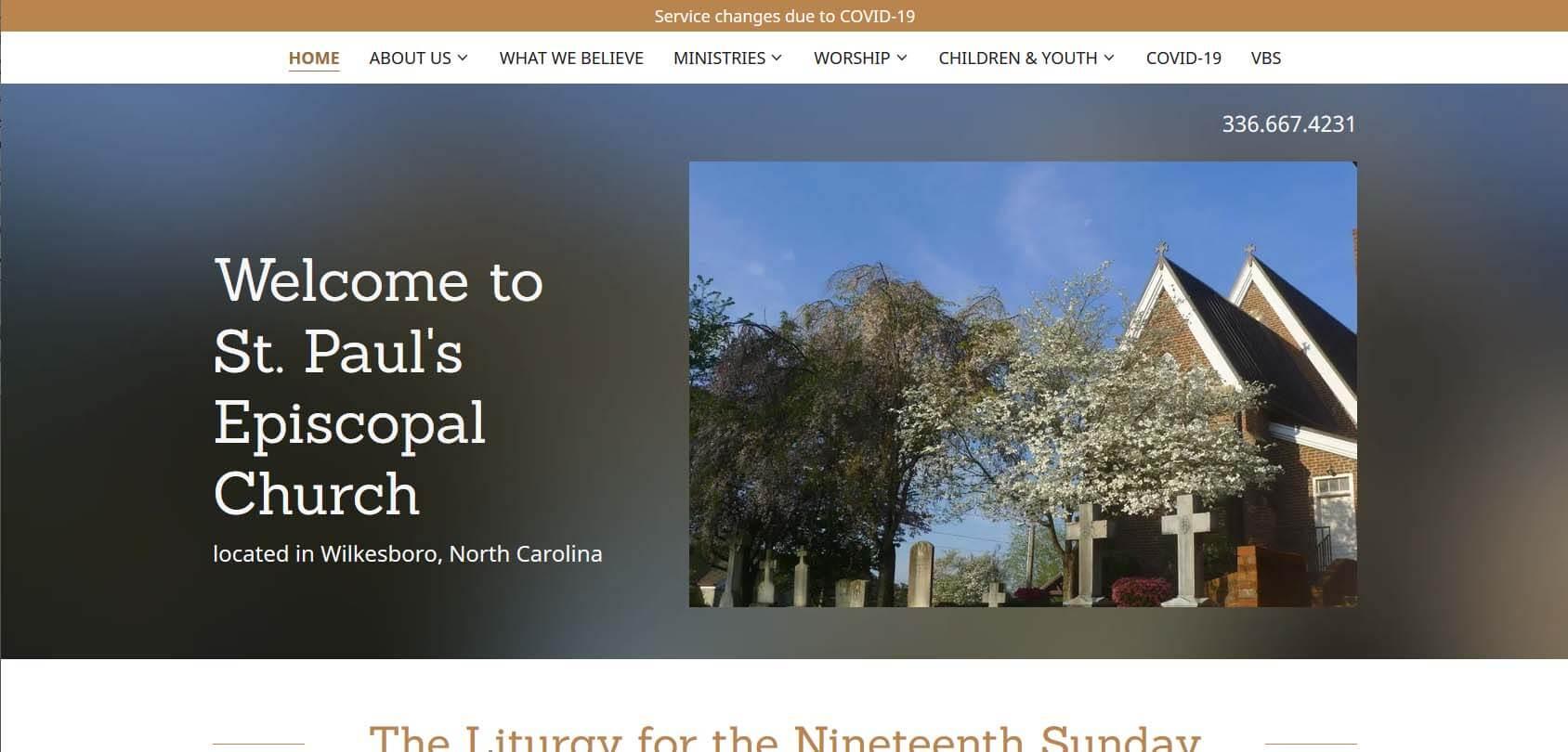 St. Paul's Episcopal Church Homepage